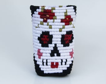 Day of the Dead Red & Black basket