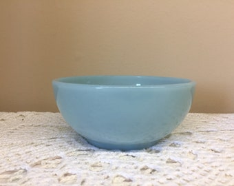 Fire King Turquoise Blue Chili Bowl Fire King Delphite Cereal Bowl 5 Inches