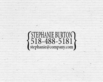 Custom Business Stamp with Parentheses for Labelling and Packaging BIZ002