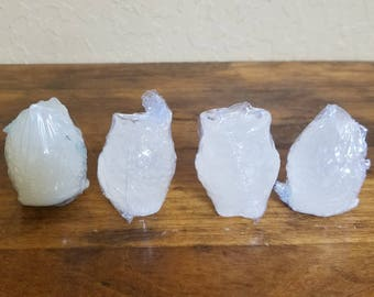 Clear unscented 3d owl bar soap