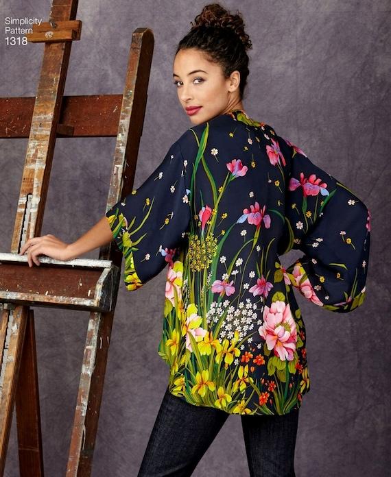 Kimono Jacket Pattern Open Front Loose Fit Jacket Pattern Sz