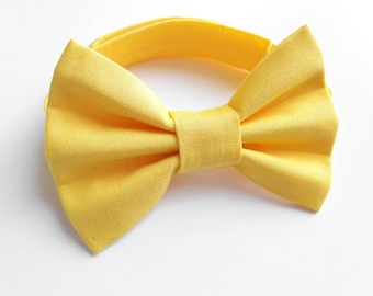 boys bow tie yellow, baby bow tie, yellow bow tie, bow tie for baby, newborn bow tie, toddler bow tie yellow, ring bearer bow tie yellow