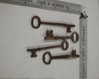 4pc lot of skeleton keys