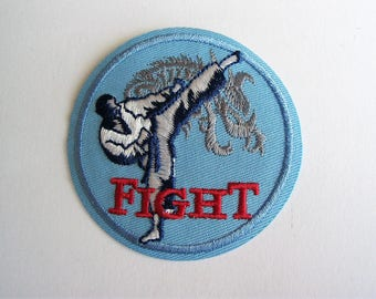 Applying patch fusible combat sport pattern - ref 6a