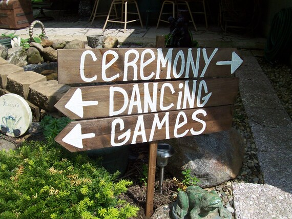 Ceremony Sign / Reception Sign / Rustic Wedding Signs / Wooden