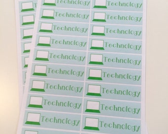 T61 || 40 Technology Stickers
