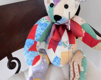 Order a Custom Handcrafted Bear from a Fur Coat or Antique Quilt