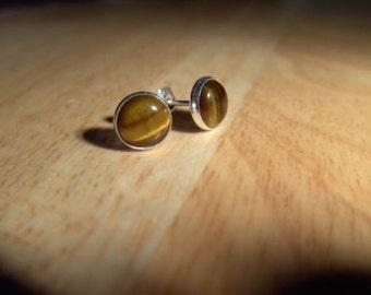 Stud Earings Tigereye Stud Earings Stone Earings