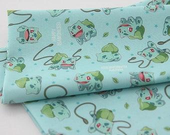 Pocket Monster, Pokemon,Bulbasaur Pikachu Character Fabric made in Korea / Half Yard