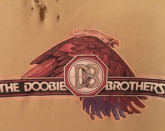 The Doobie Brothers 1975 Distressed Screen Stars Best Iron On T-Shirt