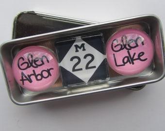 GLEN LAKE, Up North Michigan, Leelanau, Sleeping Bear, Glen Arbor, Leland, M22, Michigan, Fridge Magnets, Refrigerator Magnets, Michigan