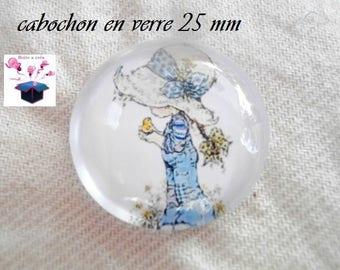1 cabochon clear 25 mm round satah theme