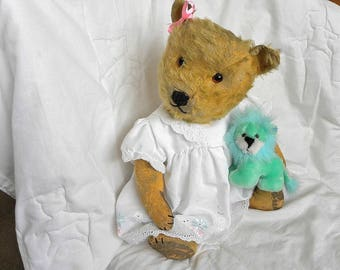 "Antique Chiltern Bear - 20"" Mohair Teddy Bear - 1930's Toy - Vintage Chiltern"