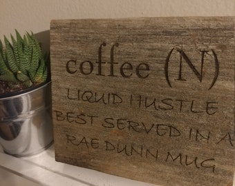 Reclaimed Barn Wood Engraved Sign