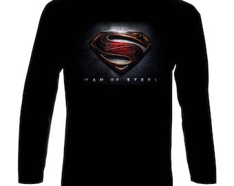 Inspired By Superman Man of Steel Langarm Long Sleeve T-Shirt