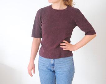Vintage burgundy top