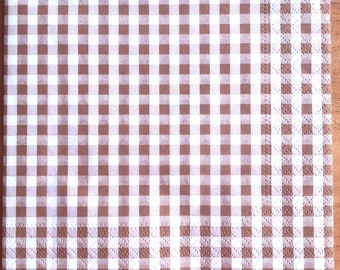 Brown gingham paper towel