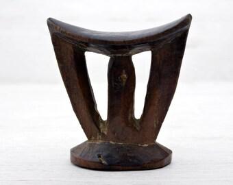Ethiopian Headrest, Carved,  Solid ,Wood ,Kambatta ,African, Art , Ethiopia, Africa