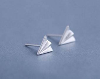 Aki - Silver 925 Paperplanes Earrings, Gift for Woman, Gift for Girlfriends, Beauty Jewelery