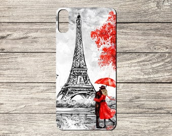 Paris Lovers TPU Case For iPhone 5/5S 6/6S 7 8 & X (S6310)