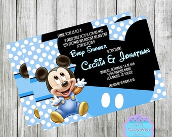 Baby mickey mouse baby shower invitation baby prince mickey baby mickey mouse invitation baby shower invitation baby mickey mouse invite printable you print filmwisefo