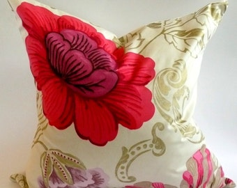 Designers Guild Amalienborg Pillow Cover in Rouge