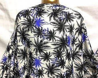 Palm Trees Print Very Fine Crepe De Chine Dress/Craft Fabric