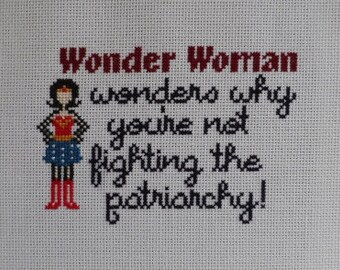 Wonder Woman Wonders Cross-Stitch Pattern