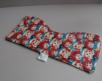 Raggedy Ann & Andy flannel Burpers  ~ 2 pack ~ ready to ship
