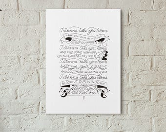 Everything Everything Lyrics 5x7 Art Print