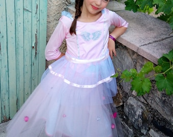 Top and skirt pink tulle Princess magician