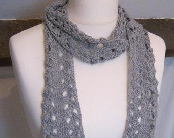 Crochet Pattern - Yarrow Cotton Scarf 4ply Fingering Instant Download PDF