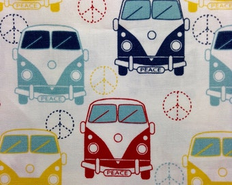 One Half Yard of Fabric Material  - VW Peace