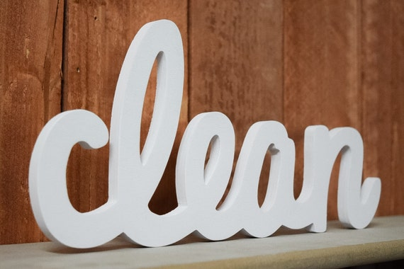 Laundry Room Sign Laundry Room Decor Clean Clean Wooden