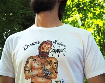 """T-shirts """"L'homme Moderne craque pour les chatons !"""""""