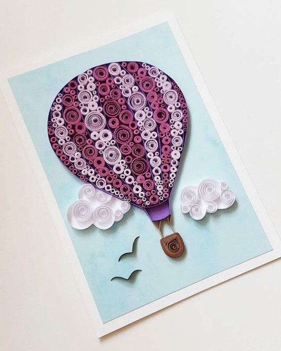 Hot air balloon card birthday card balloon anniversary card bookmarktalkfo Image collections