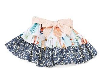 Carolina Kids Boho Feathers Boutique Ruffle Skirt - infant - toddler - girls - wholesale