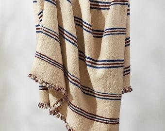 Nadim Vintage Wool Pom Pom Blanket