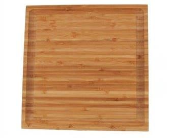 "Bamboo Grooved Cutting Board - 11"" x 11"" x .75"""