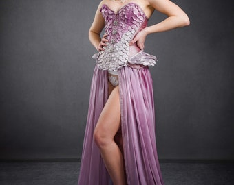 Frosted Rose Petal Corset
