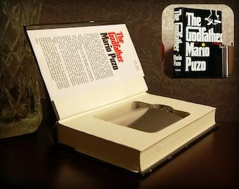 Hollow Book Safe & Flask - The Godfather - Secret Book Safe