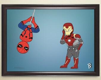 Spider-Man and Iron Man Print
