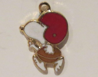 Vintage Snoopy Playing Football Charm By Aviva