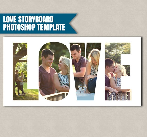 Love Storyboard Photoshop Template, Photographer Storyboard ...