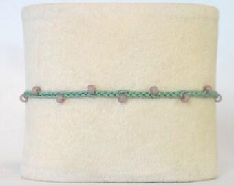 Adjustable Braided Bead Bracelet