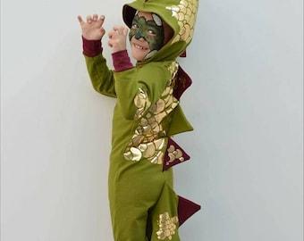 Kids Cosplaysuit PDF Sewing Pattern, bodysuit, pajamas, costume, hood, dinosaur, dog, cat, bunny, unicorn, lion, insect, bear, cosplay