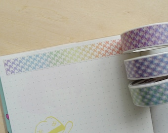 Rainbow Houndstooth Washi Tape