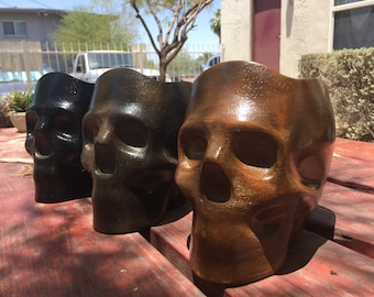 Large Skull Vase Planter Pot