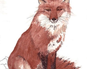 ACEO - Red fox