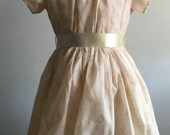 Vintage Girl's Dress, 1950's Girl's Special Occasion Dress
